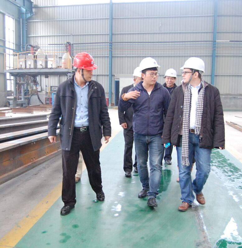Warmly welcome Colombian customers to our company to inspect projects